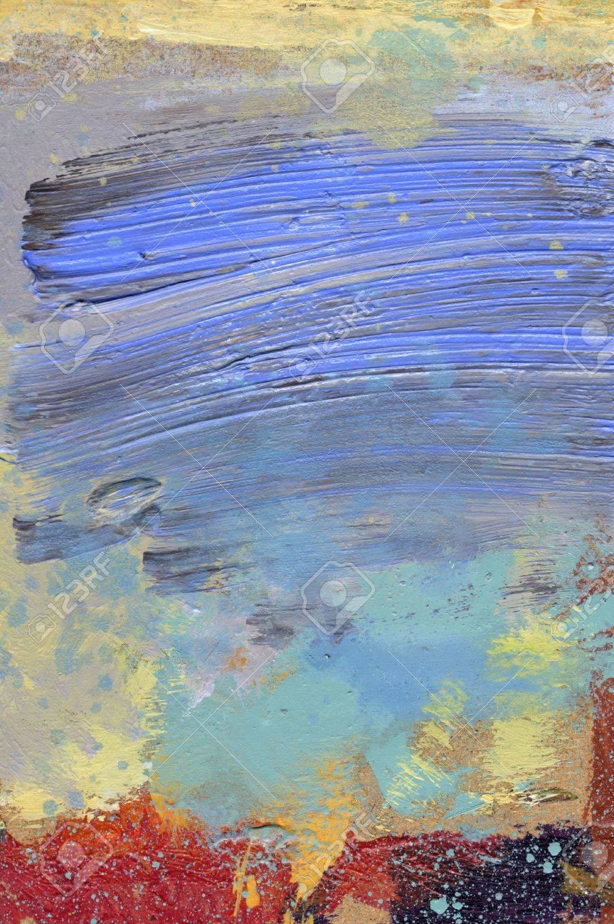 Glacis Peinture à Lhuile Et à Lacrylique Sur Isorel Beige Banque D