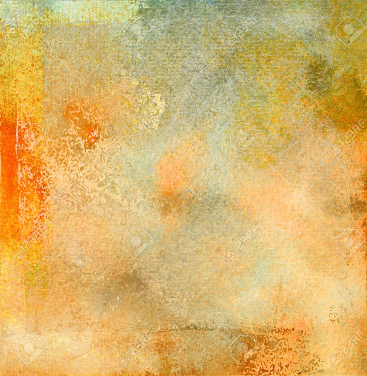 Beige Watercolor With Textures Added Painted Background Stock