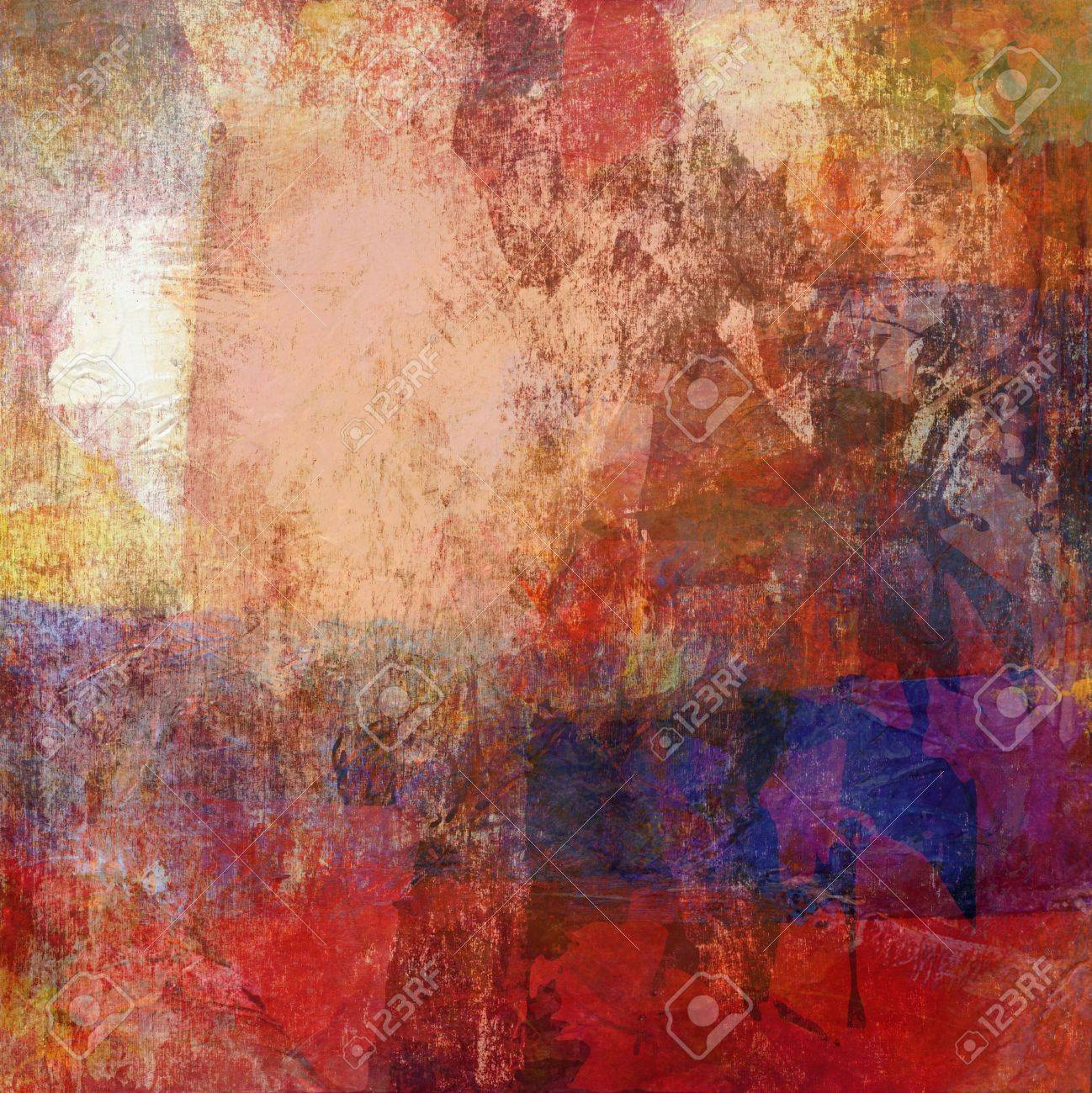 Analog Painting With Different Textures Added Digitally Stock Photo