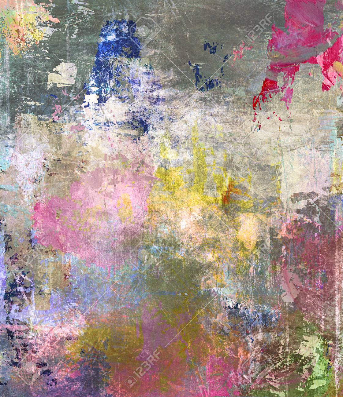 Abstract Mixed Media Created By Combining Different Layers Stock