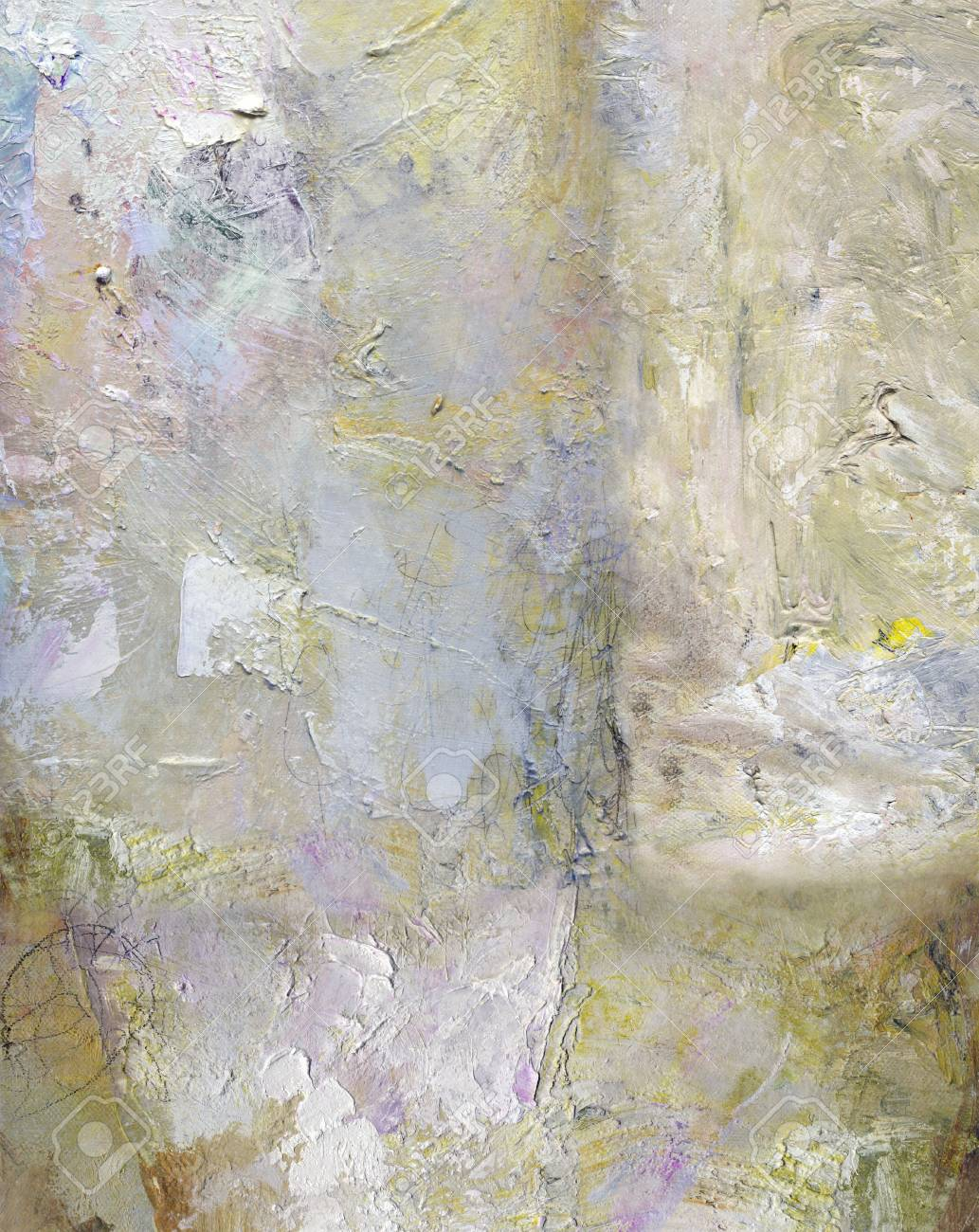 Abstract Layer Artwork Opaque And Transparent Oil Paint Textures