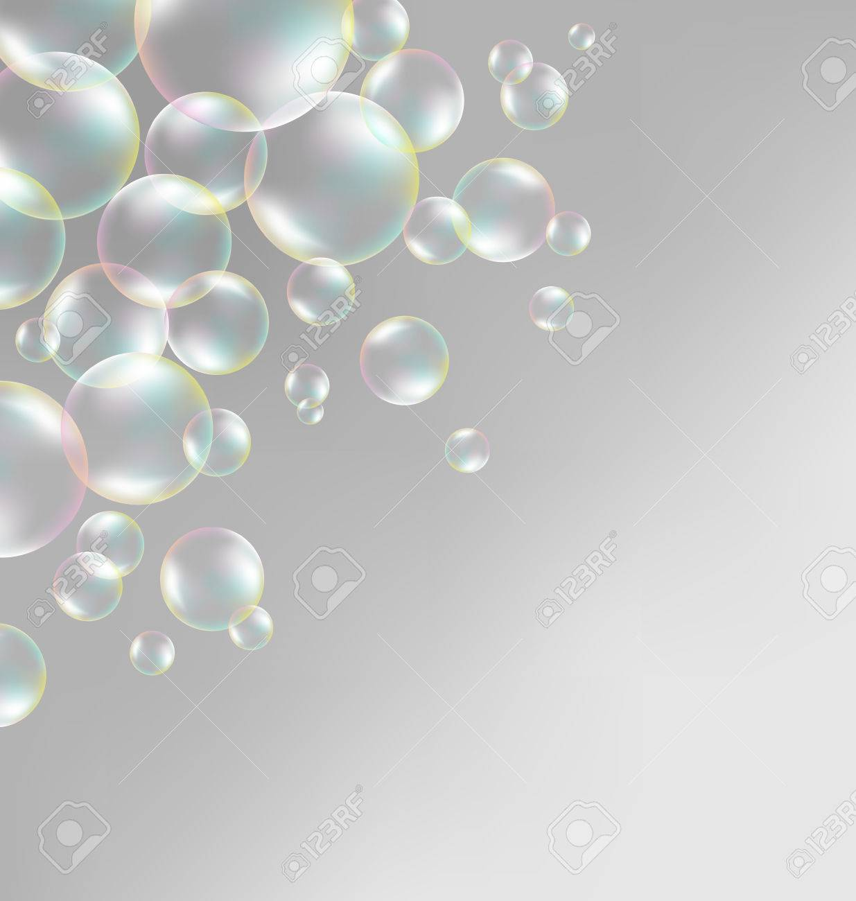 Background image grayscale - Transparent Iridescent Soap Bubbles On Grayscale Background Stock Photo 34247082