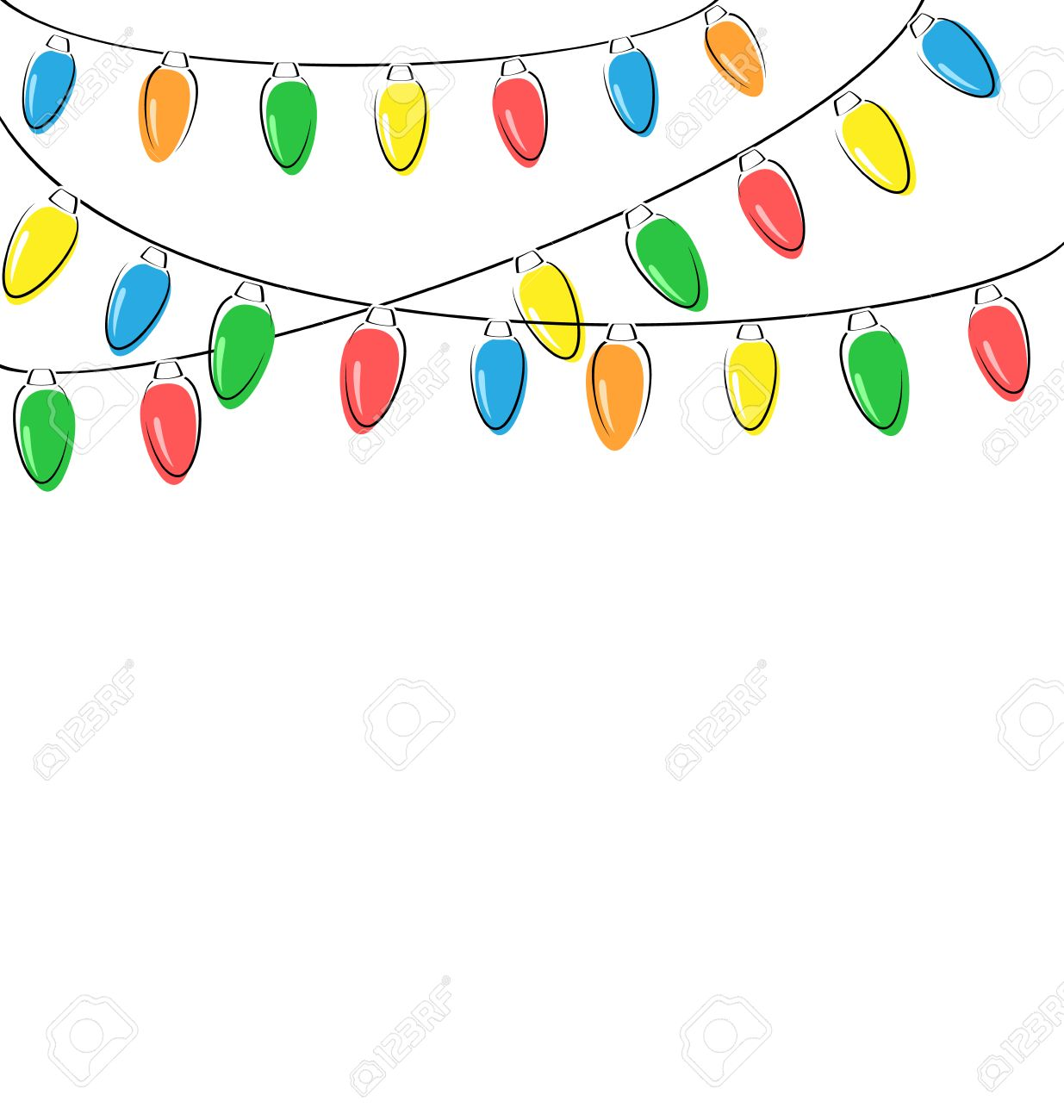 multicolored flat led christmas lights garland isolated on white background stock photo 34247097 - Christmas Light Garland