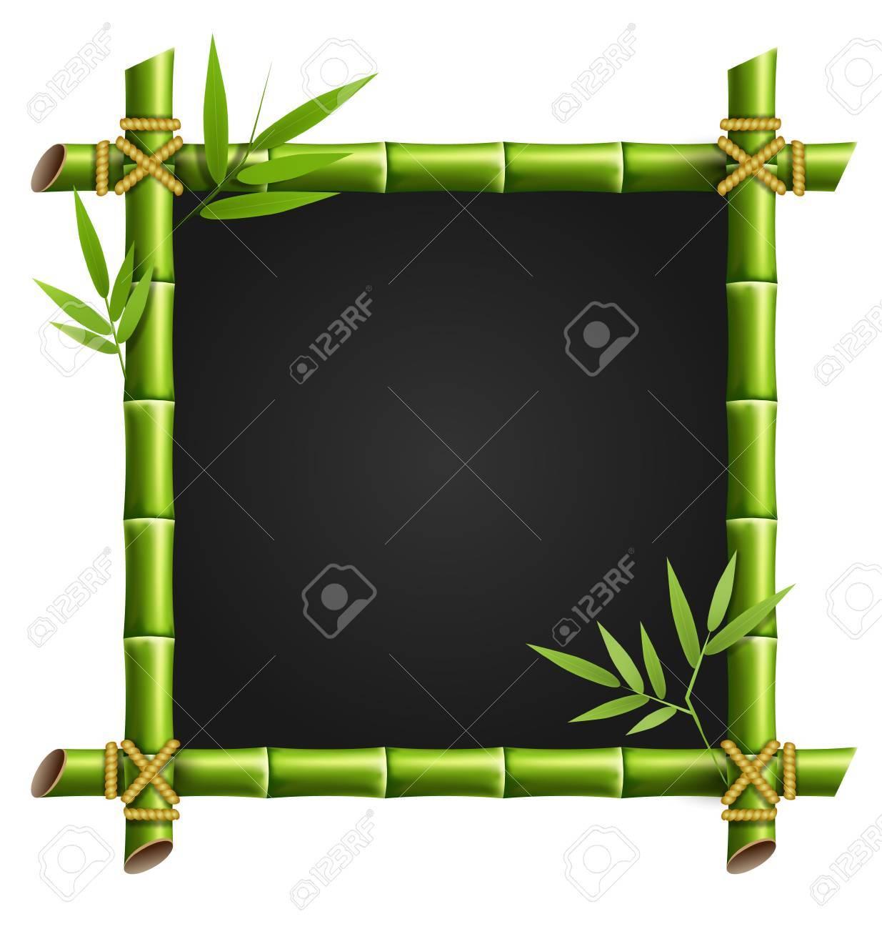 Grüner Bambus-Rahmen Auf Weißem Hintergrund Lizenzfrei Nutzbare ...