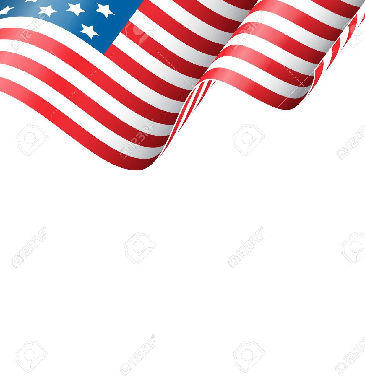Wavy USA national flag isolated on white background - 41448369