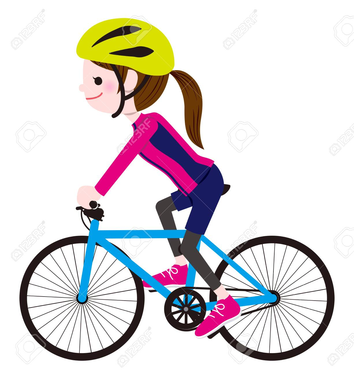 Cycling Woman - 151831238