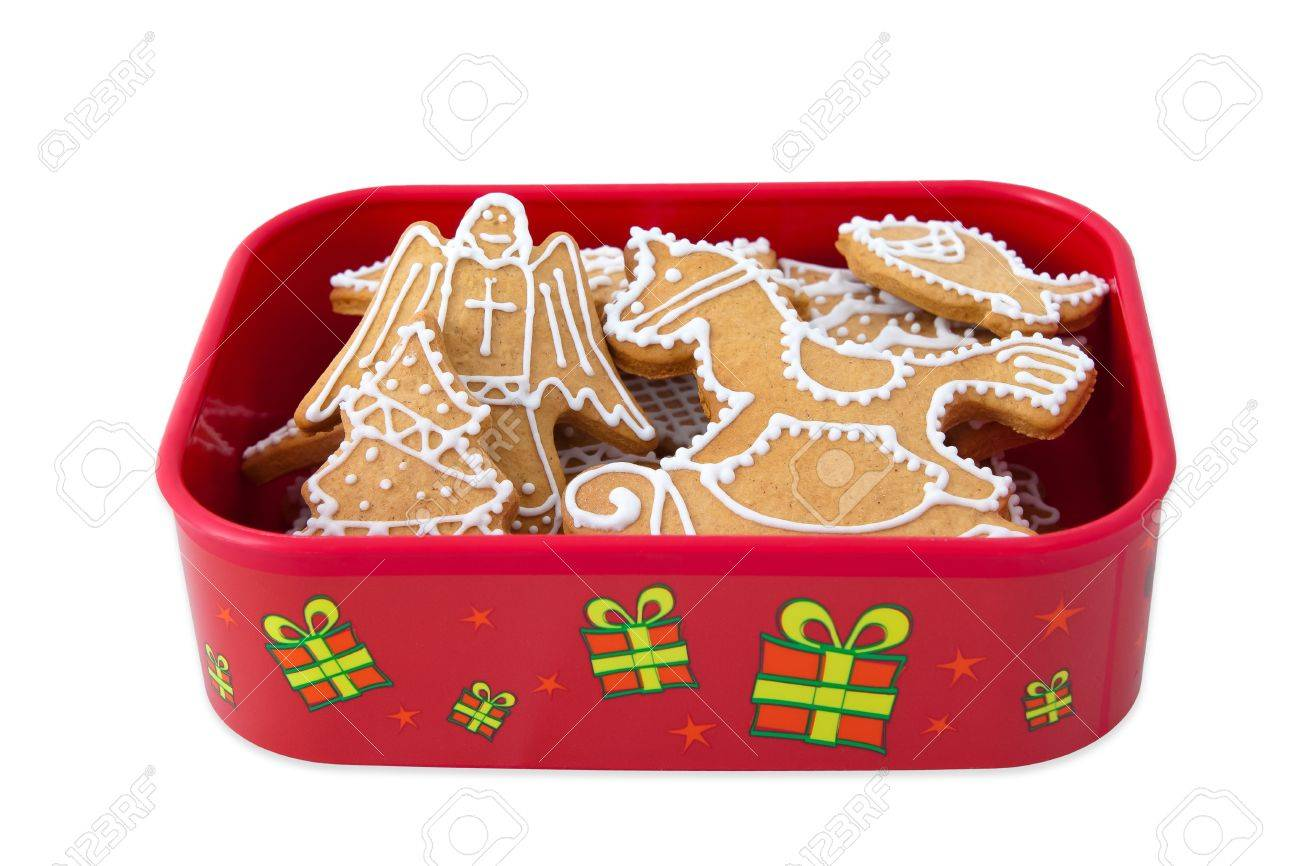 Homemade Christmas Ginger And Honey Cookies In Christmas Gift Stock Photo Picture And Royalty Free Image Image 18364323