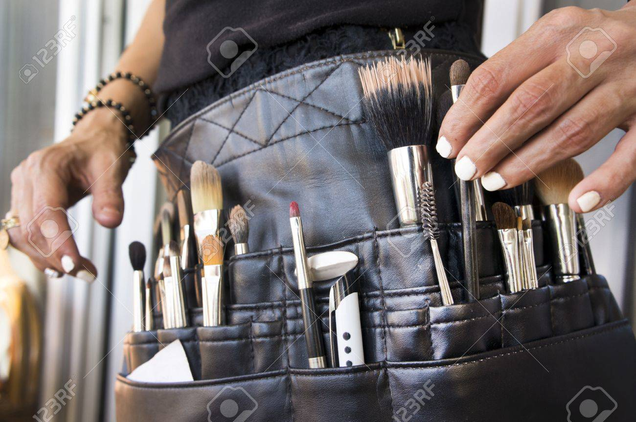 Brushes And Tools Of A Makeup Artist Closeup Stock Photo Picture