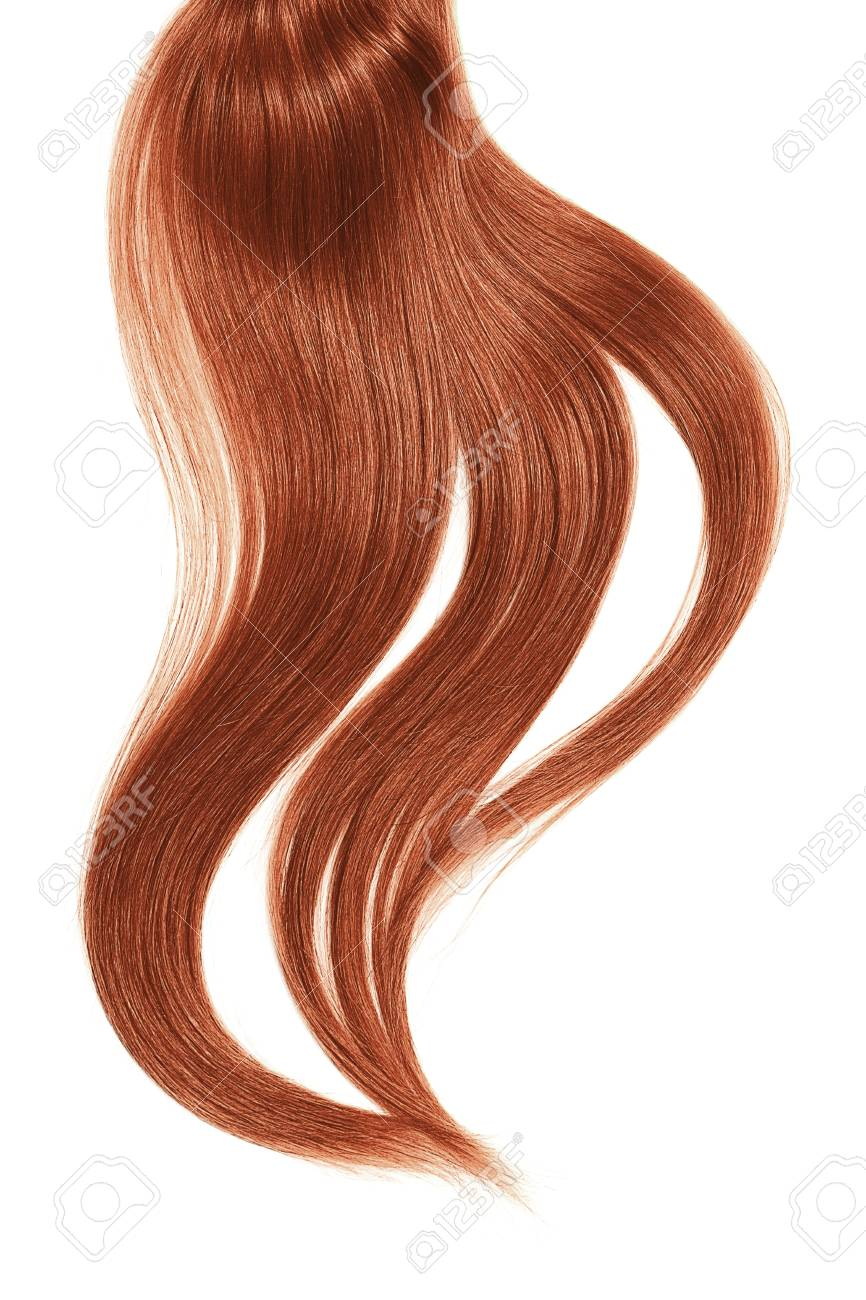 Curl Of Natural Henna Hair On White Background Stock Photo Picture
