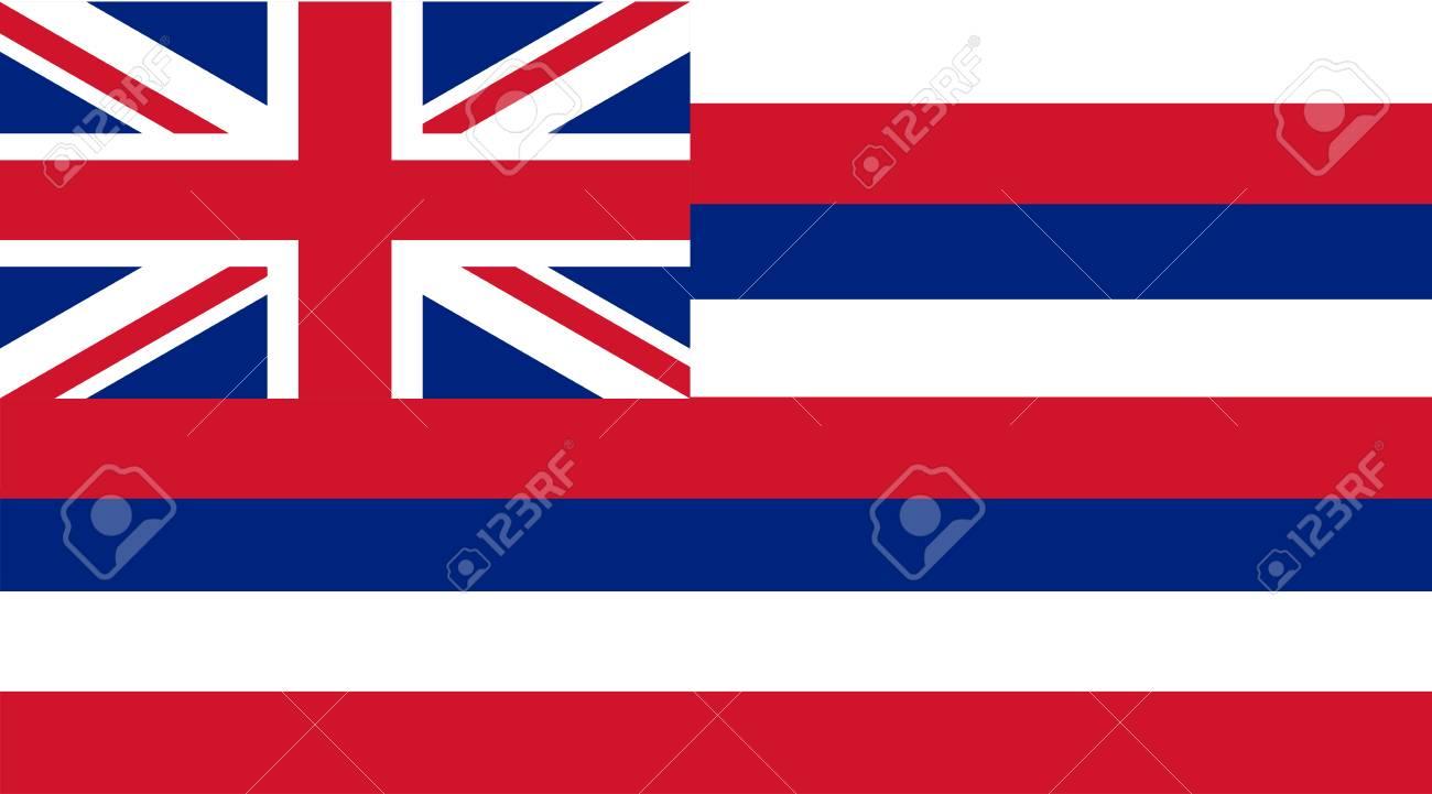 Vector image of Hawaii State flag. Ka Hae Hawaii. - 110212118