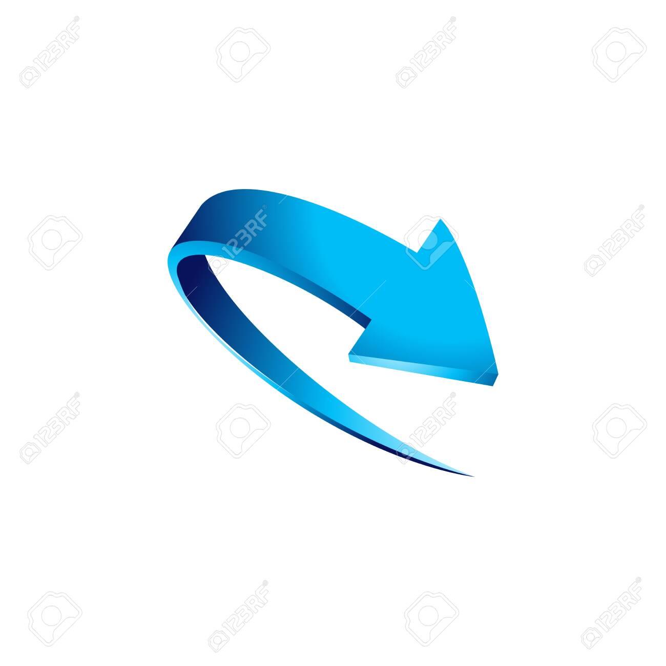 Vector illustration of 3d arrow design - 129792586