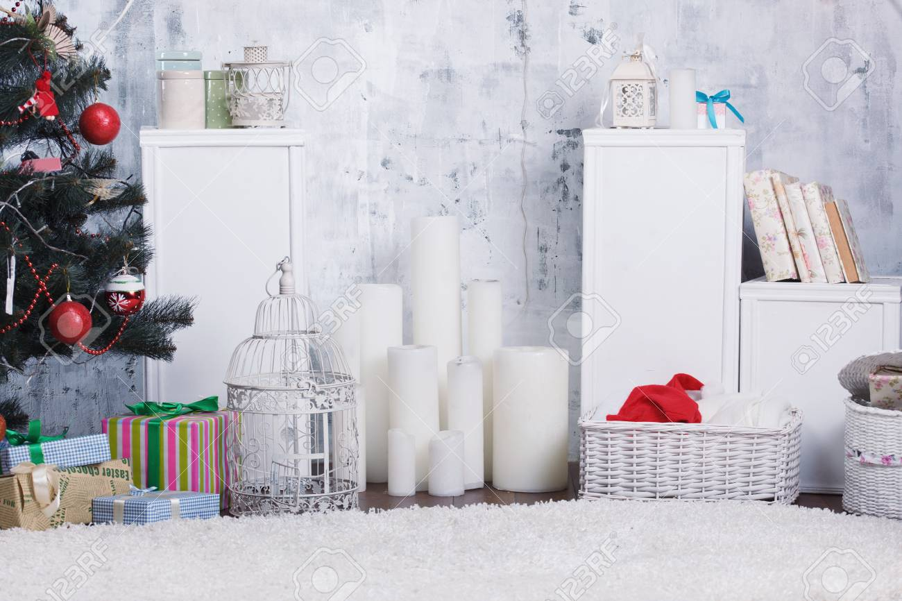 Decorated Christmas interior - 50376684