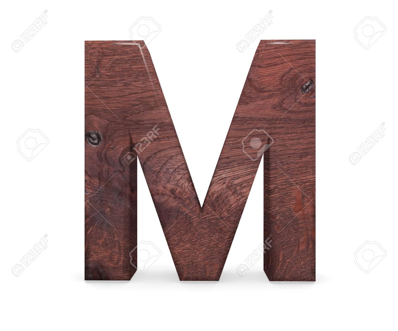 3d Decorative Brown Polished Wooden Alphabet Capital Letter Stock