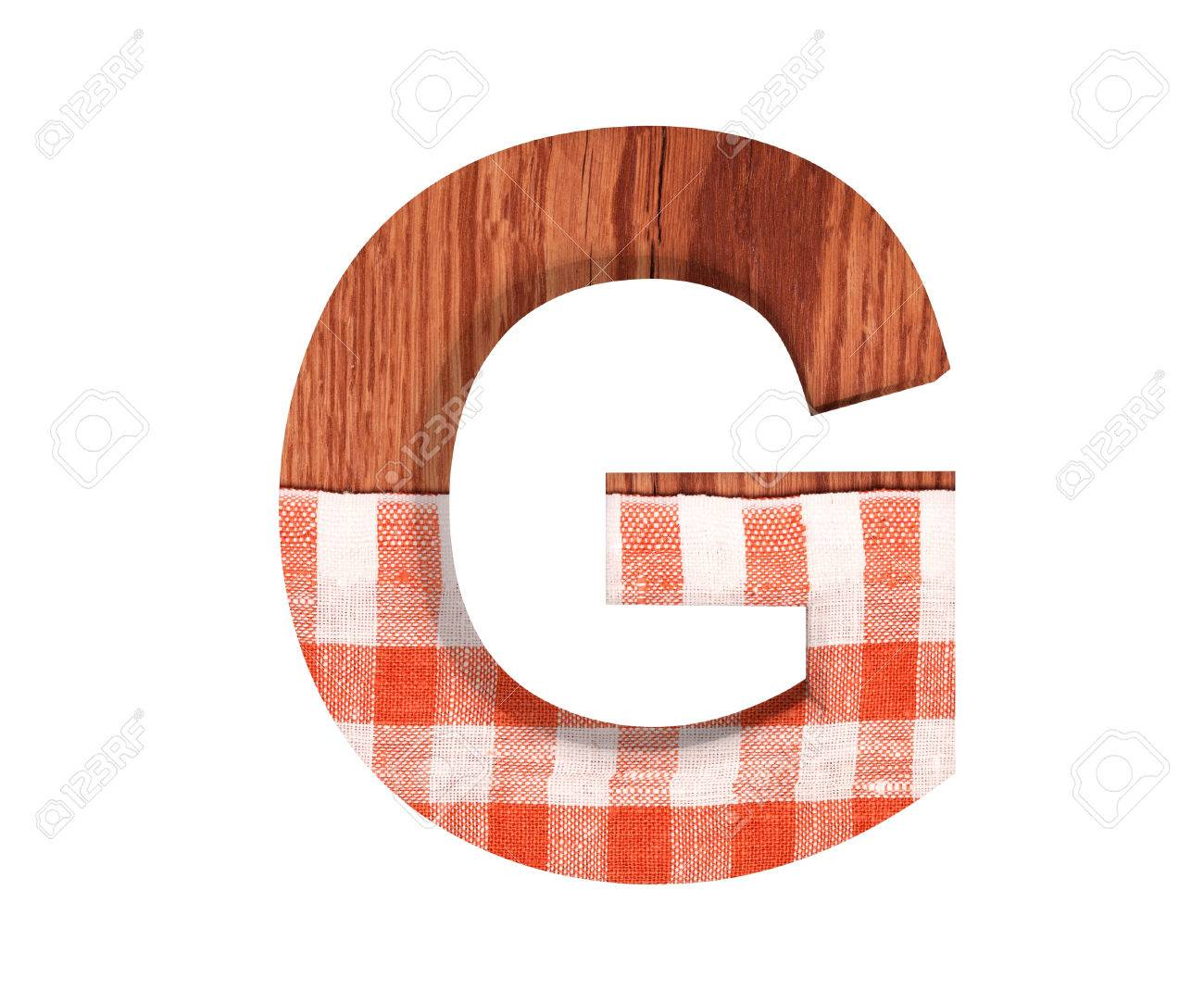 3d Decorative Wooden With Kitchen Tablecloth Alphabet Capital