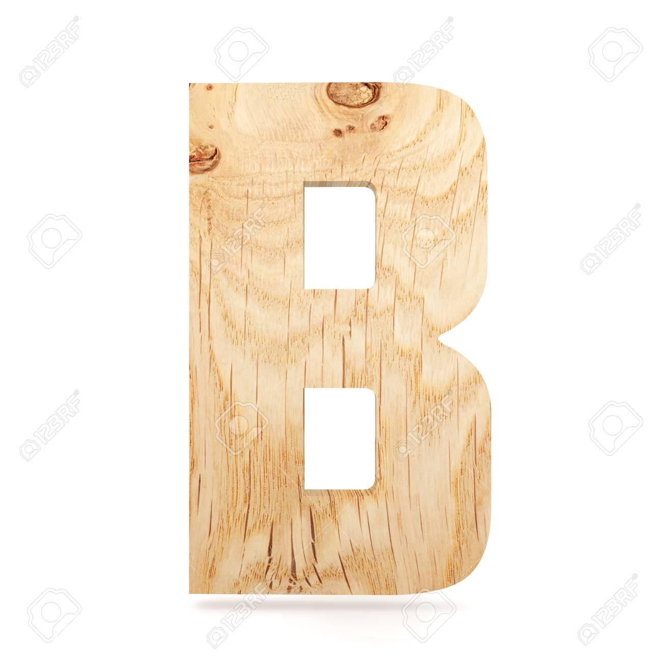3D Decorative Wooden Alphabet, Capital Letter B Stock Photo, Picture ...