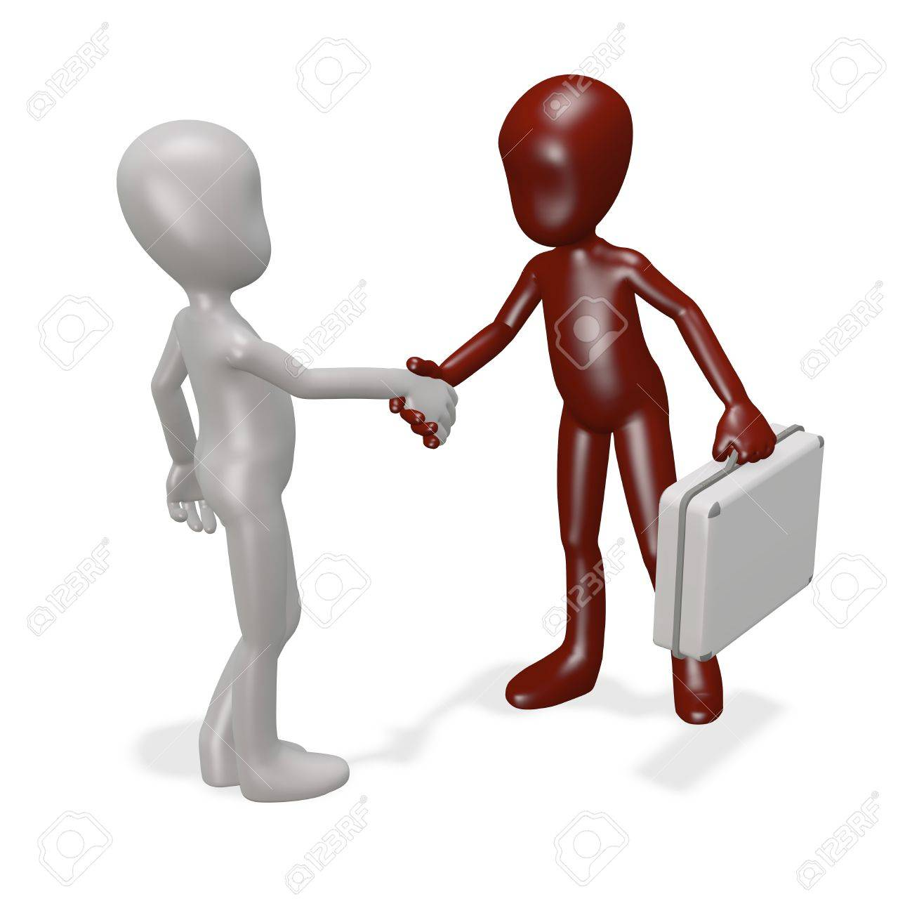 The two men had a deal. 3d render Stock Photo - 9528527