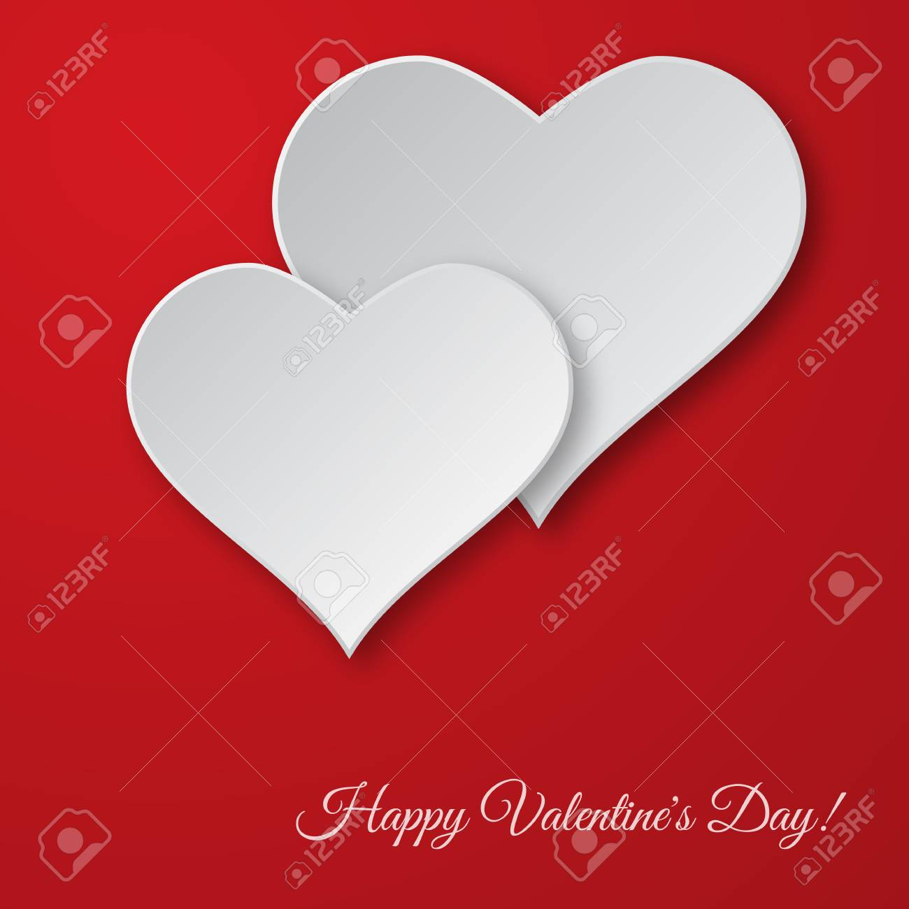 valentine s day vector background paper cut hearts card template