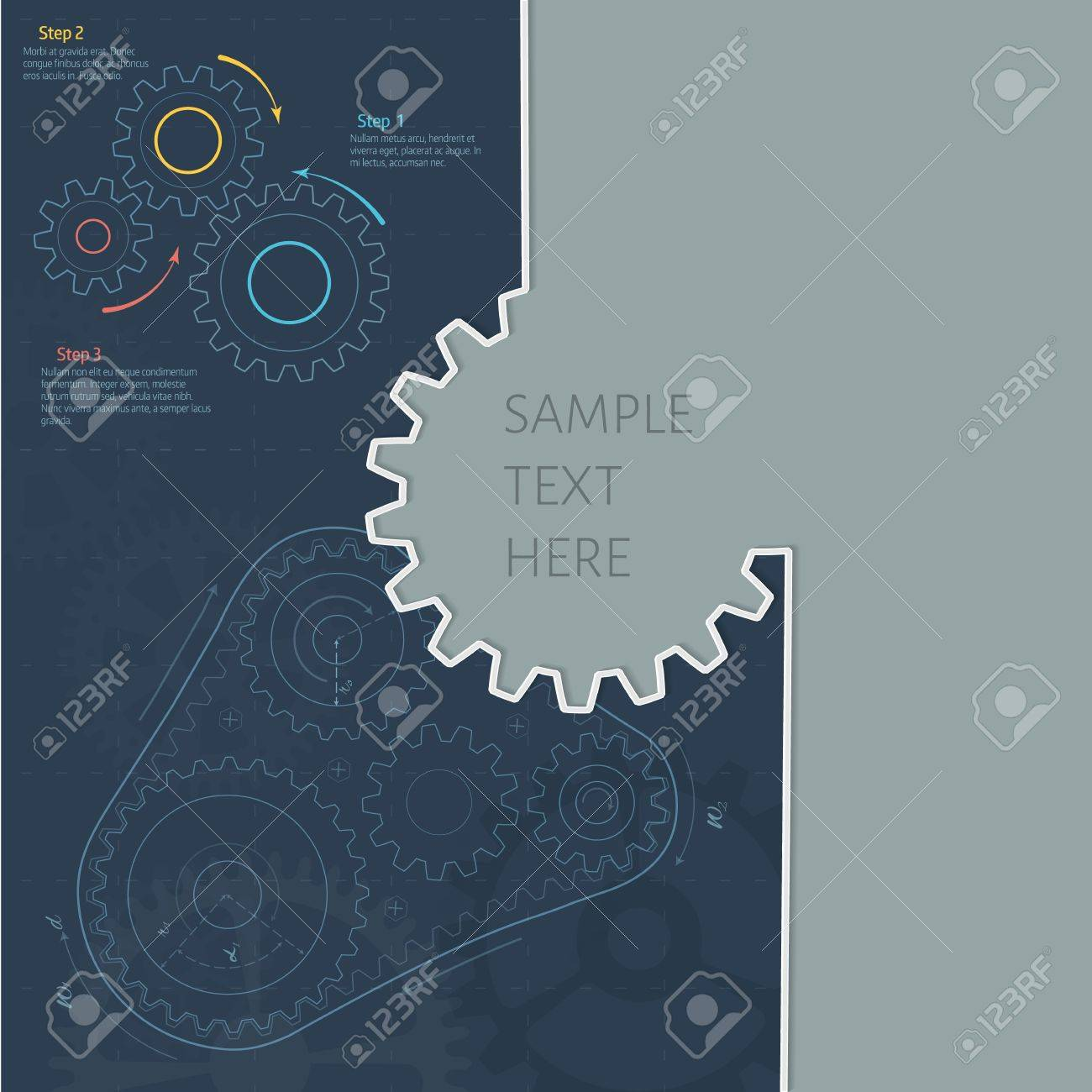 Technology background with gear wheel gears belt blueprint technology background with gear wheel gears belt blueprint cover template vector background malvernweather Image collections