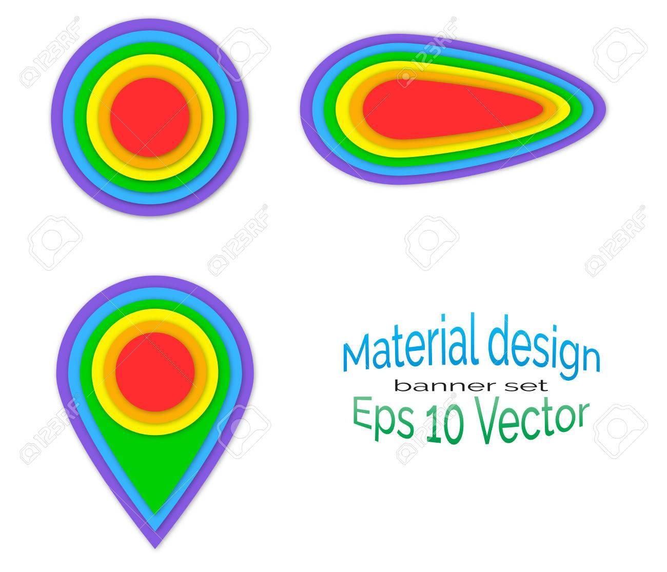 抽象的な横断幕のデザインのベクトル イラストは背景白に設定します。虹
