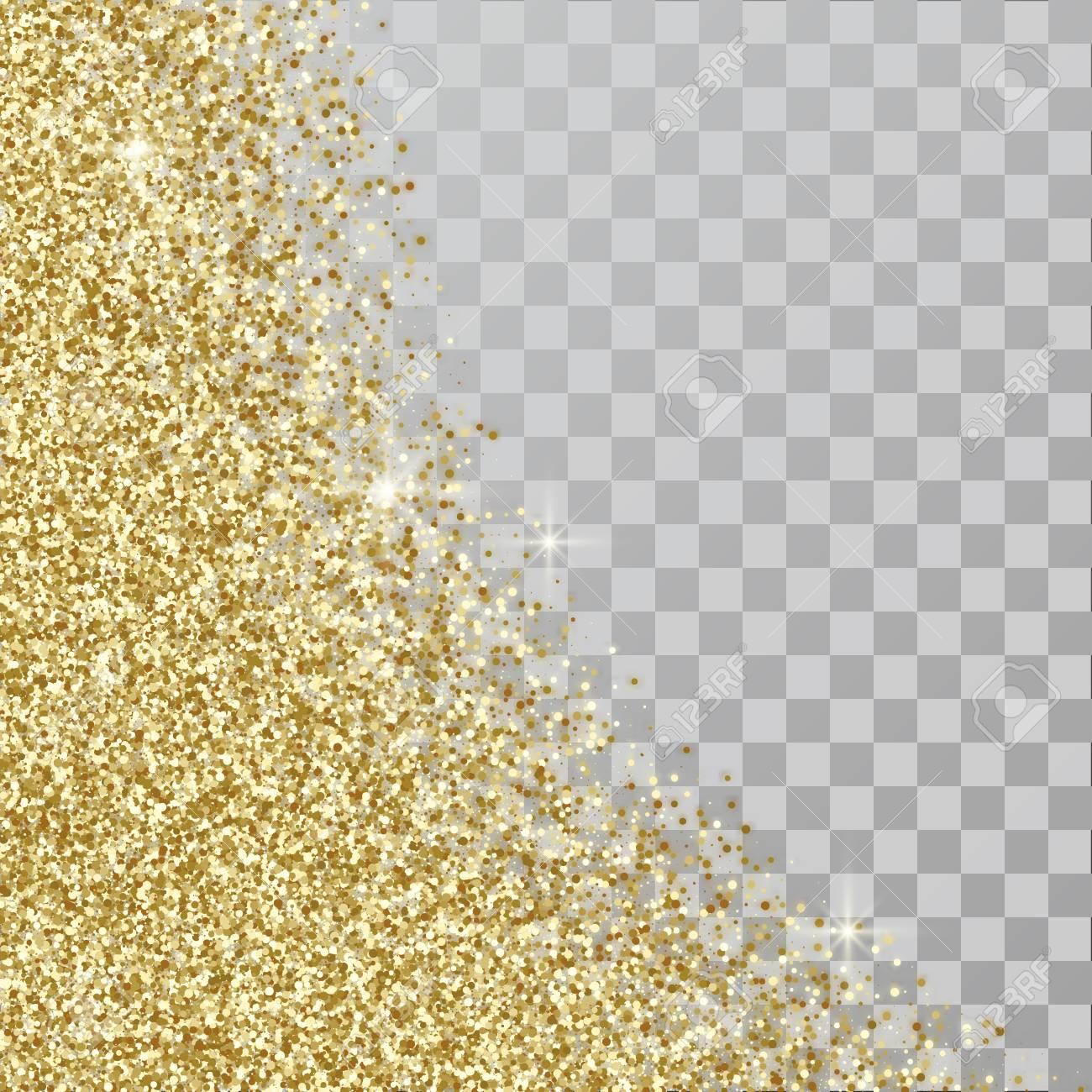 gold glitter abstract background golden sparkles on transpsrent