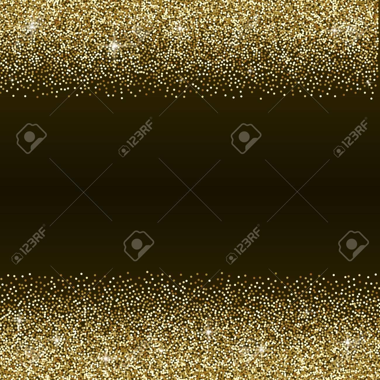 Gold Glitter Abstract Background Golden Sparkles On Black Background