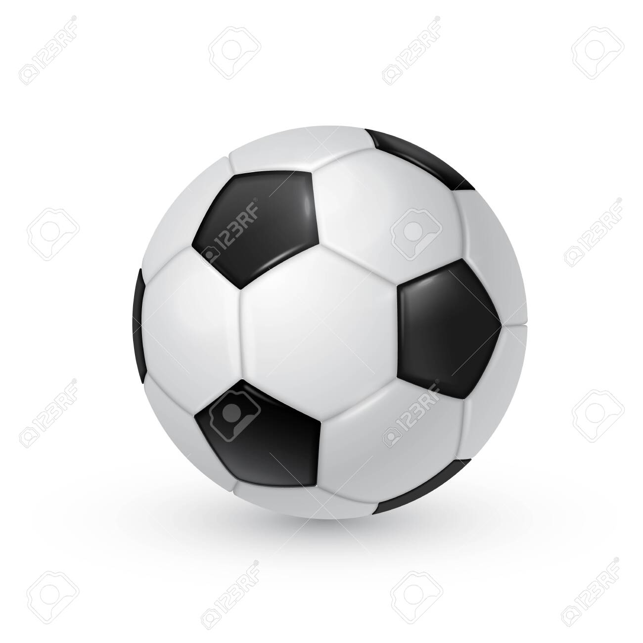 Soccer ball realistic vector illustration isolated on white background. - 143736571
