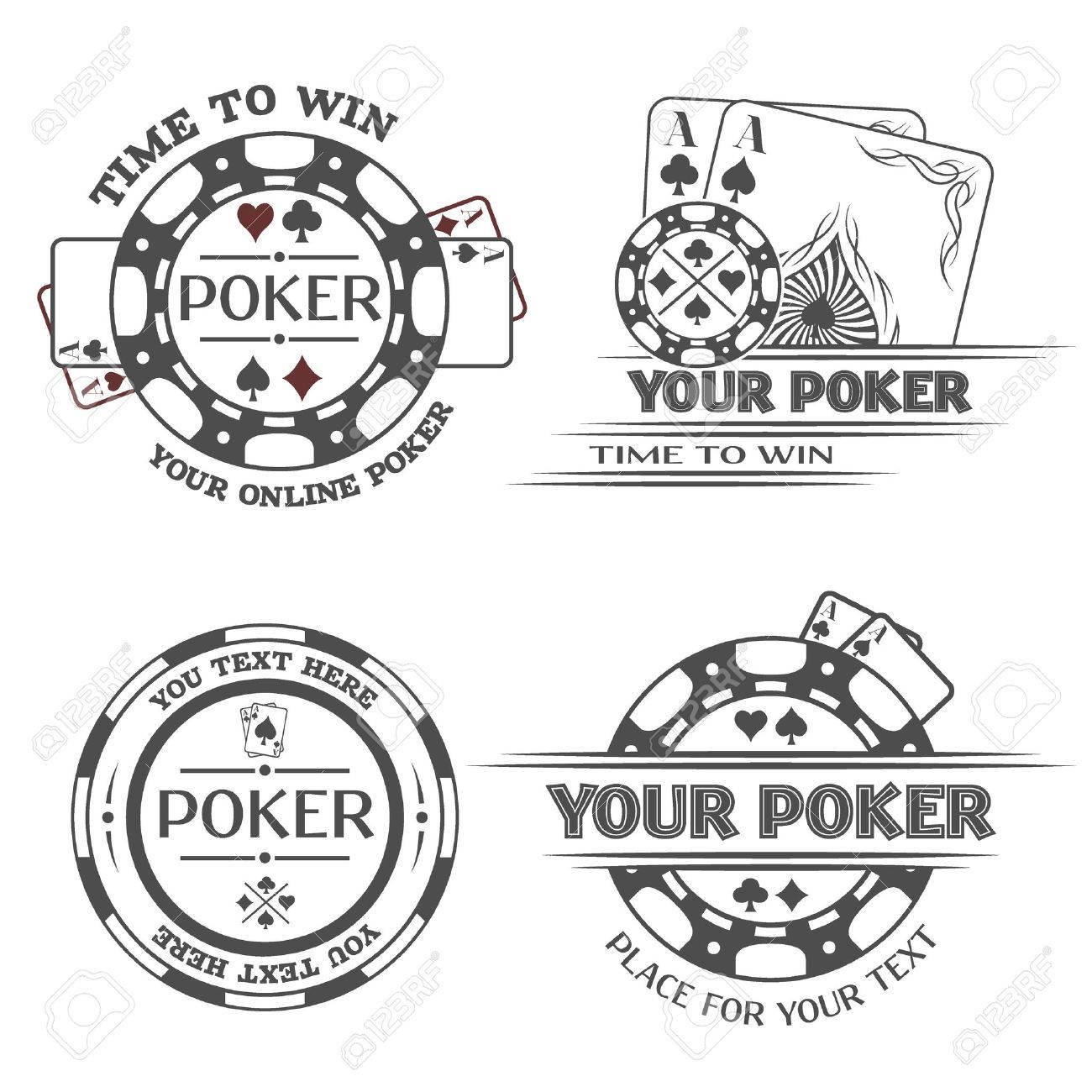 Set poker emblems or lable Vector illustration. - 39492291