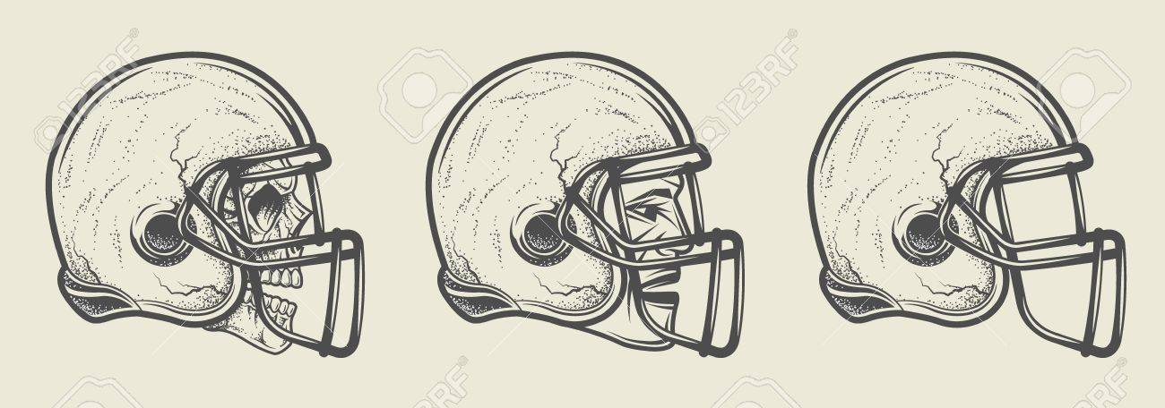 helmet for game in the american football three options template