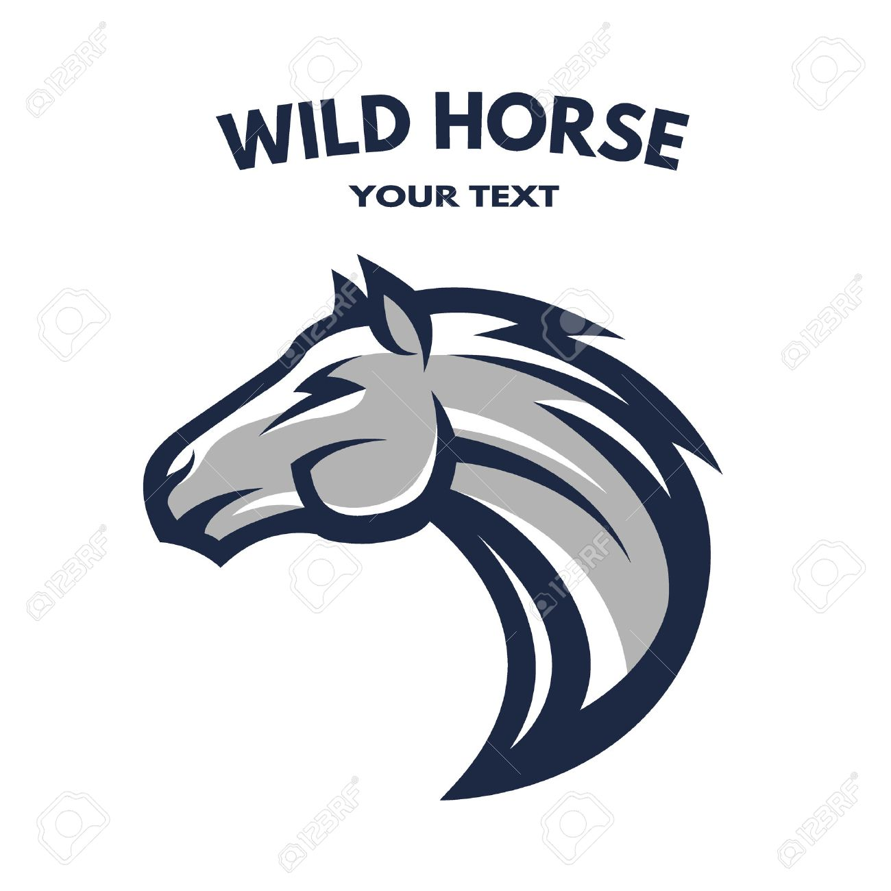 Wilde Horse Symbol Logo Vector Illustration Royalty Free Cliparts Vectors And Stock Illustration Image 47563193