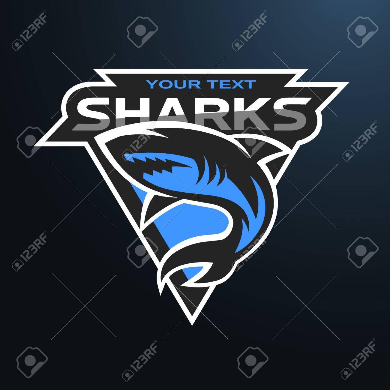 Foto de archivo - Logotipo de tiburones c599d1ac21679