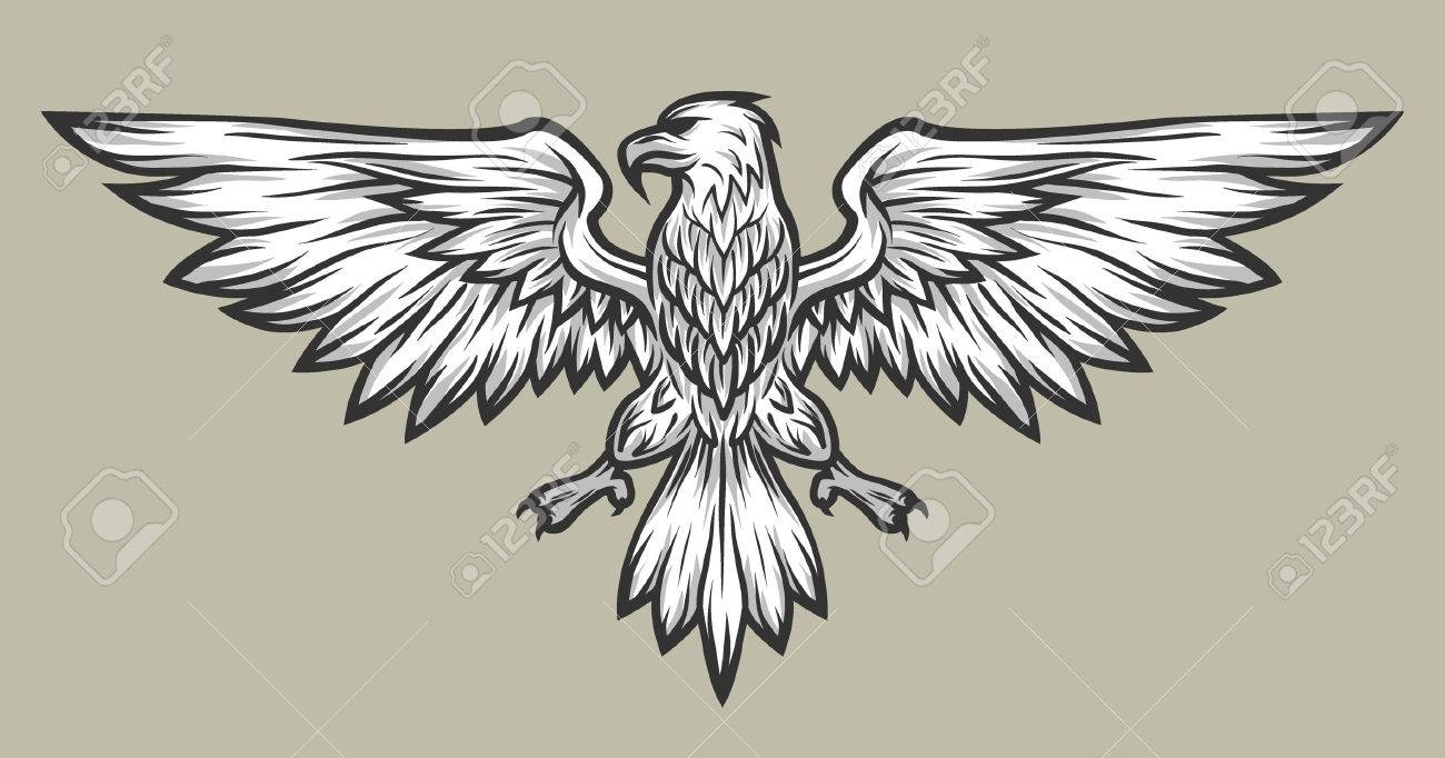 eagle mascot spread wings symbol mascot vector illustration royalty free cliparts vectors and stock illustration image 52627847 eagle mascot spread wings symbol mascot vector illustration