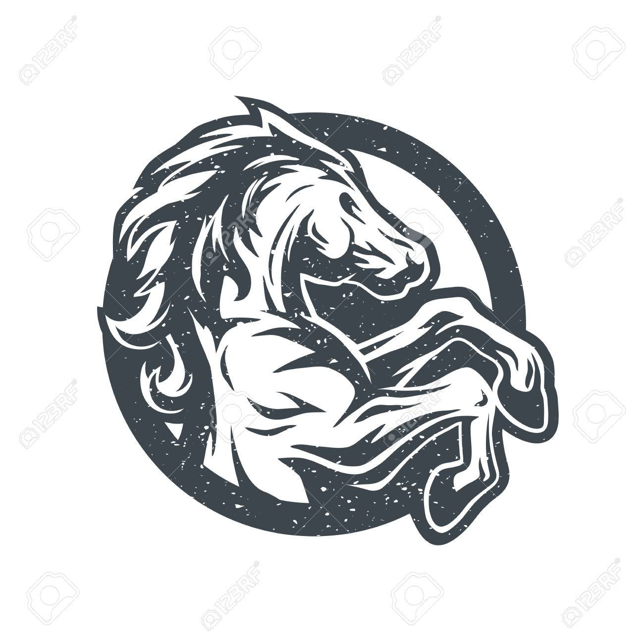 Wild Horse Logo Symbol Vector Illustration Royalty Free Cliparts Vectors And Stock Illustration Image 68098320