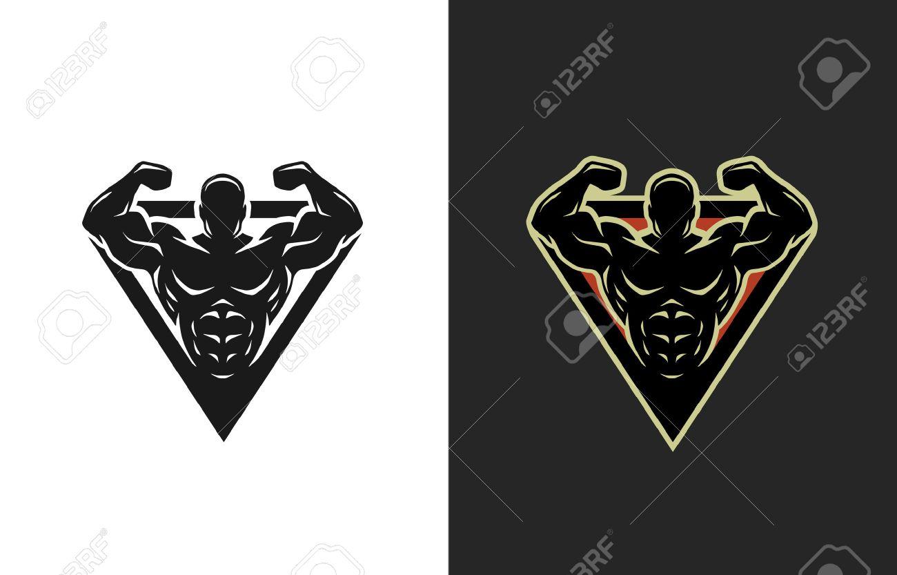 Bodybuilding logo two options Vector illustration. - 68425003