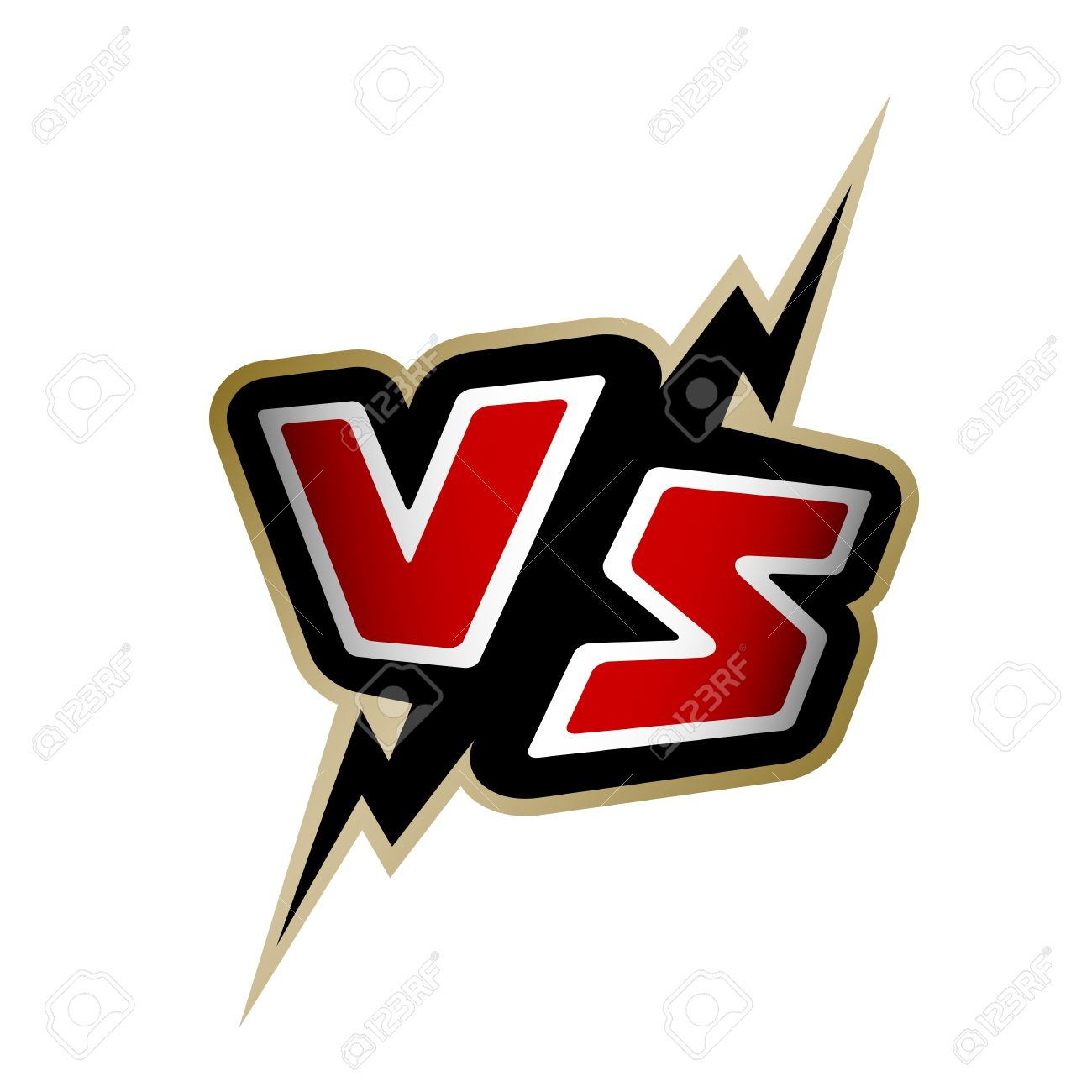 versus letters vs logo vector illustration royalty free cliparts