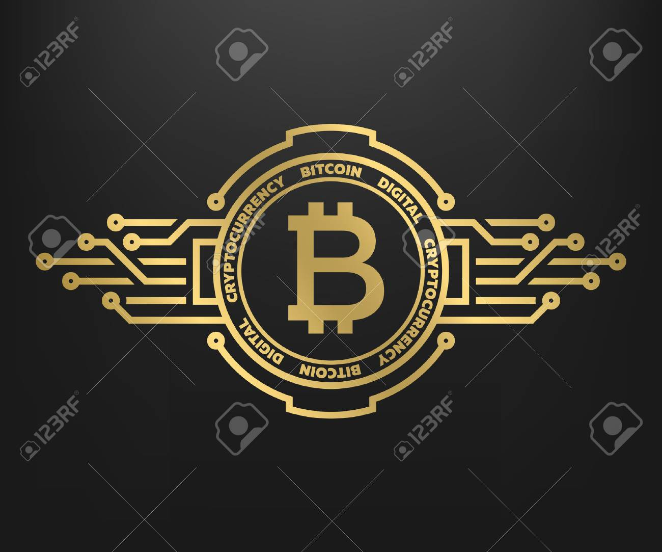 Bitcoin, abstract golden symbol of internet money. Digital Crypto currency symbol. - 89178531