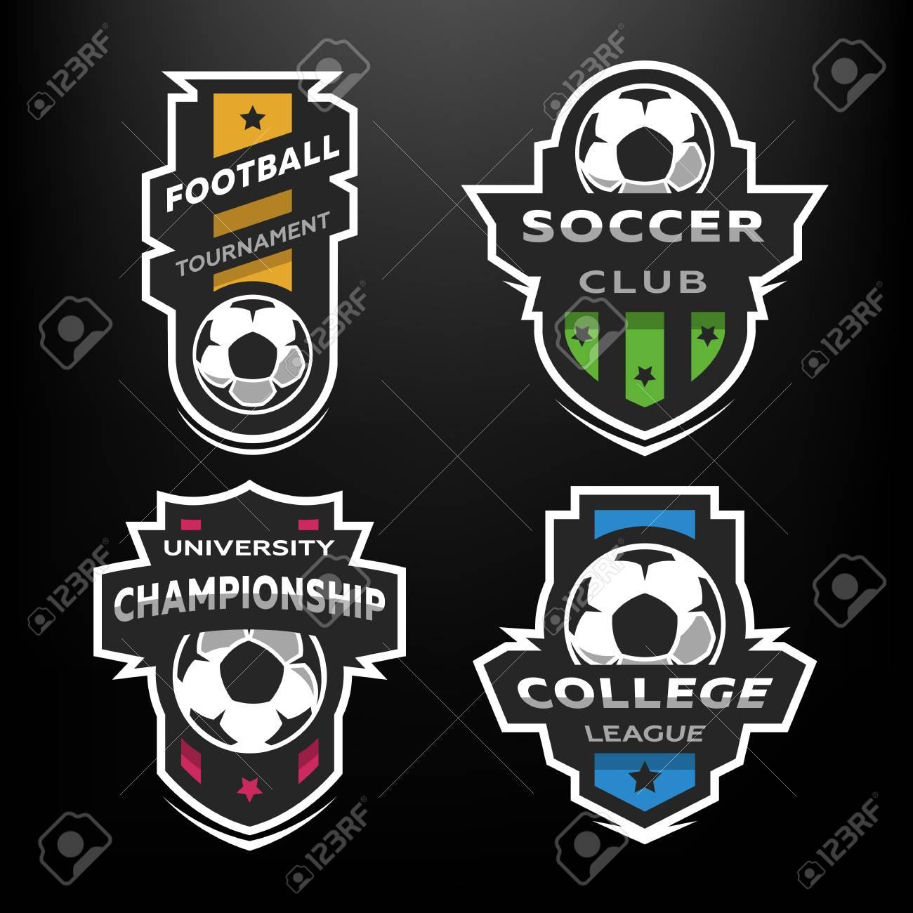 Set of Soccer Football logo, emblem. - 89178541