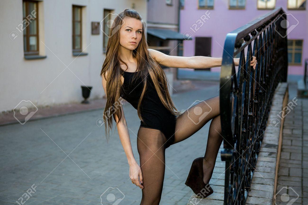Free pantyhose model