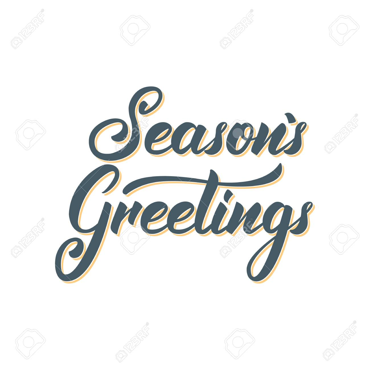 seasons greetings text lettering design christmas and new year greeting typography stock vector 88839843