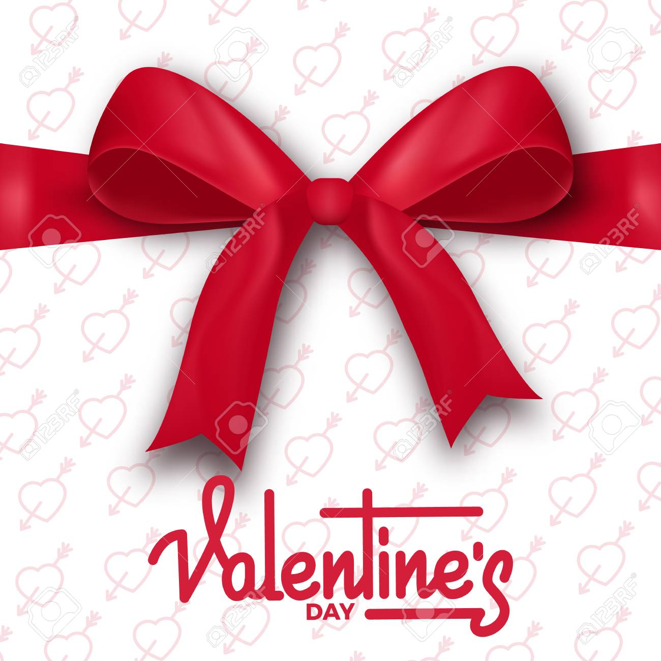 Valentines Day Valentines Day Card With Script Lettering And