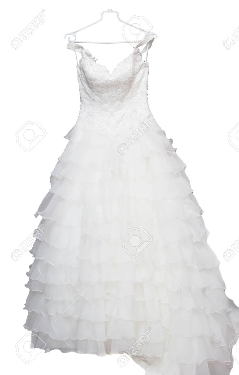 Das Hochzeitskleid Einen Schleier, Pelz, Kleid Bereit Für Die Braut ...