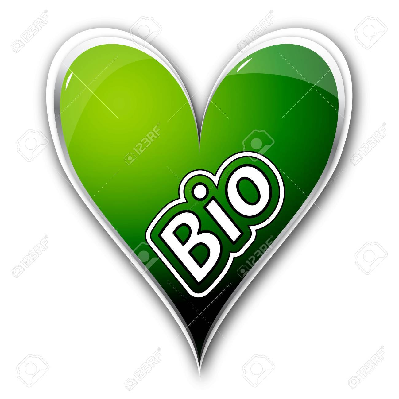 icon heart with text bio Stock Photo - 14686444