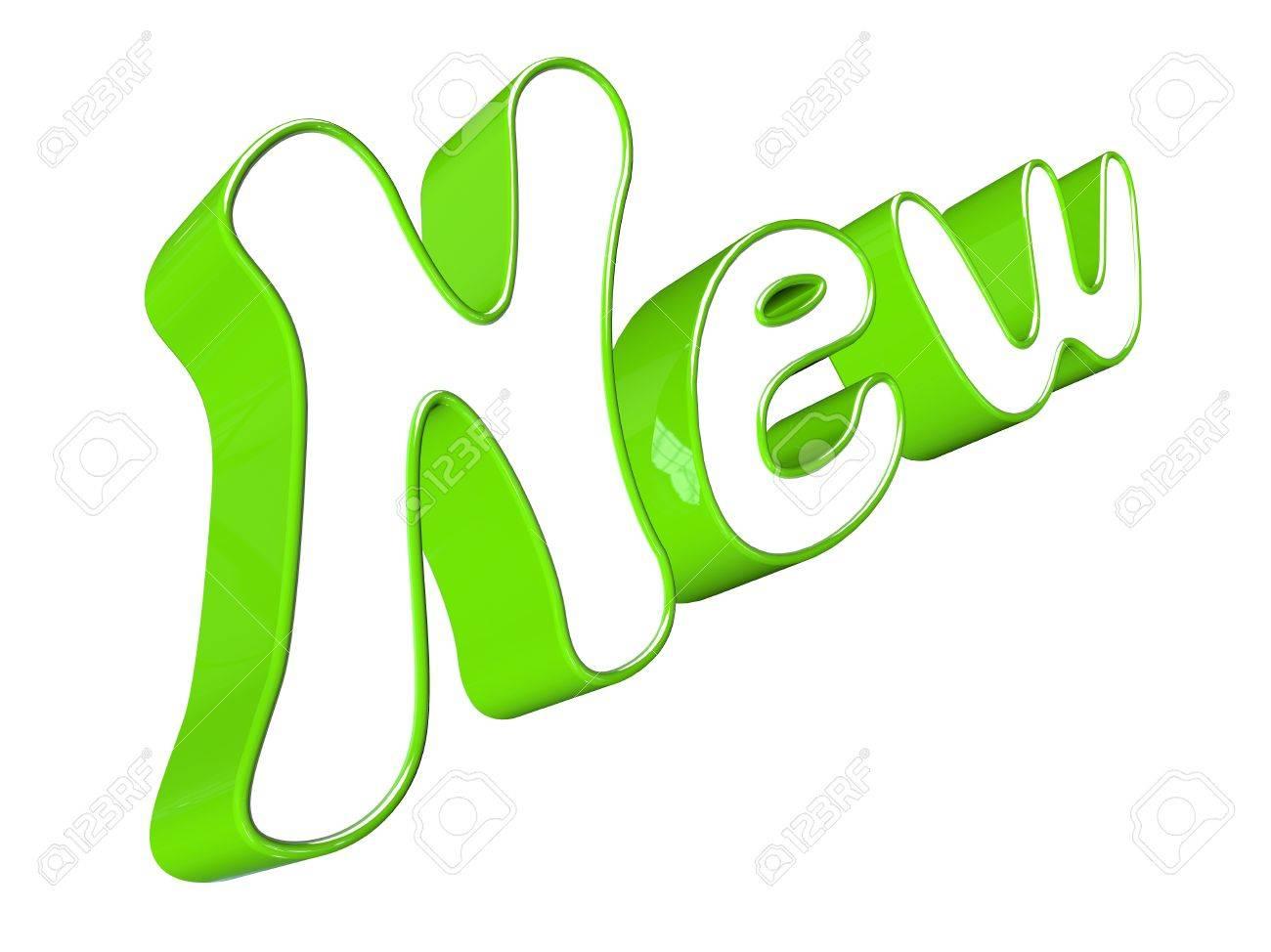 3D word new Stock Photo - 17613215