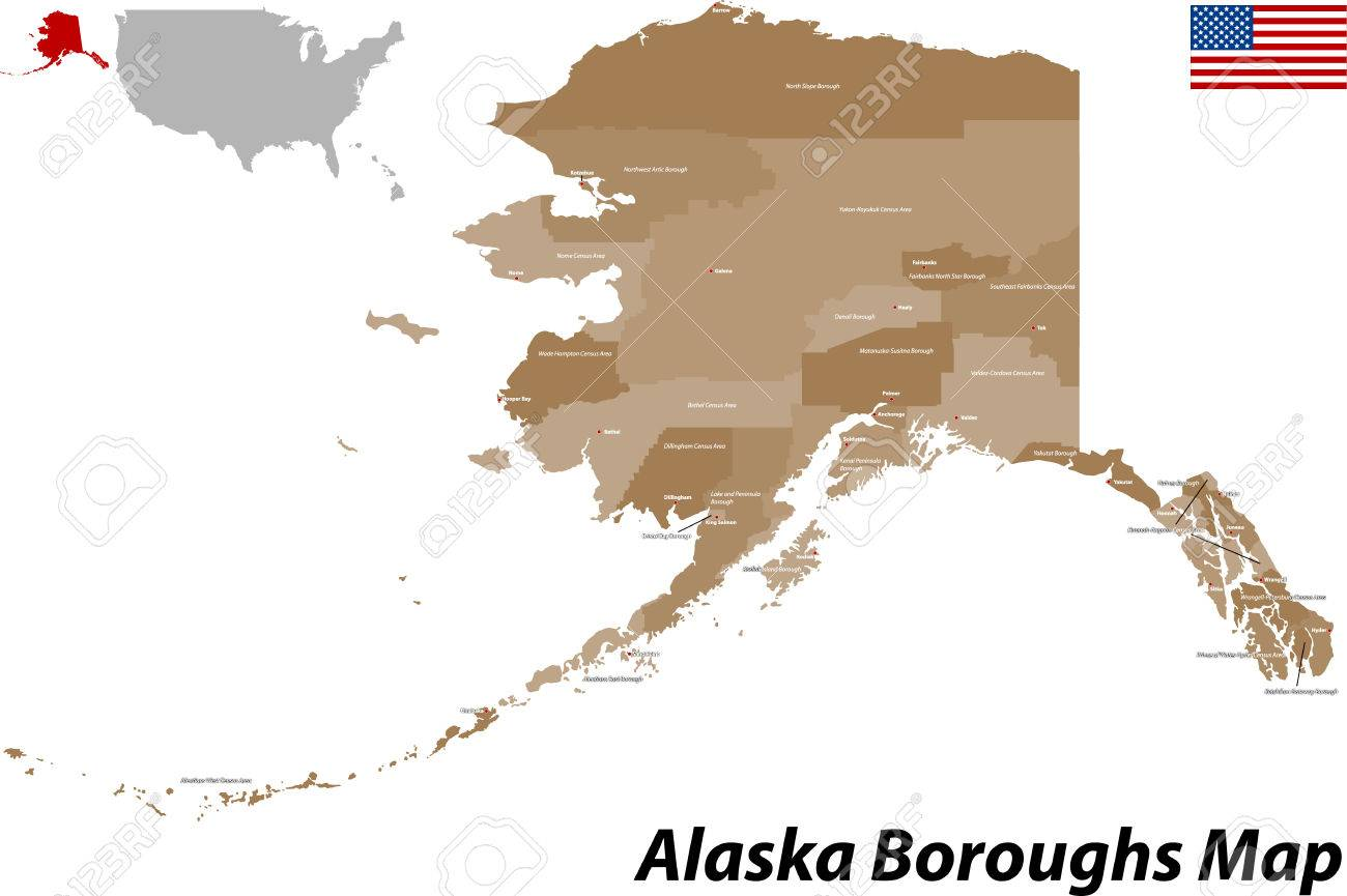 USA - State Of Alaska Royalty Free Cliparts, Vectors, And