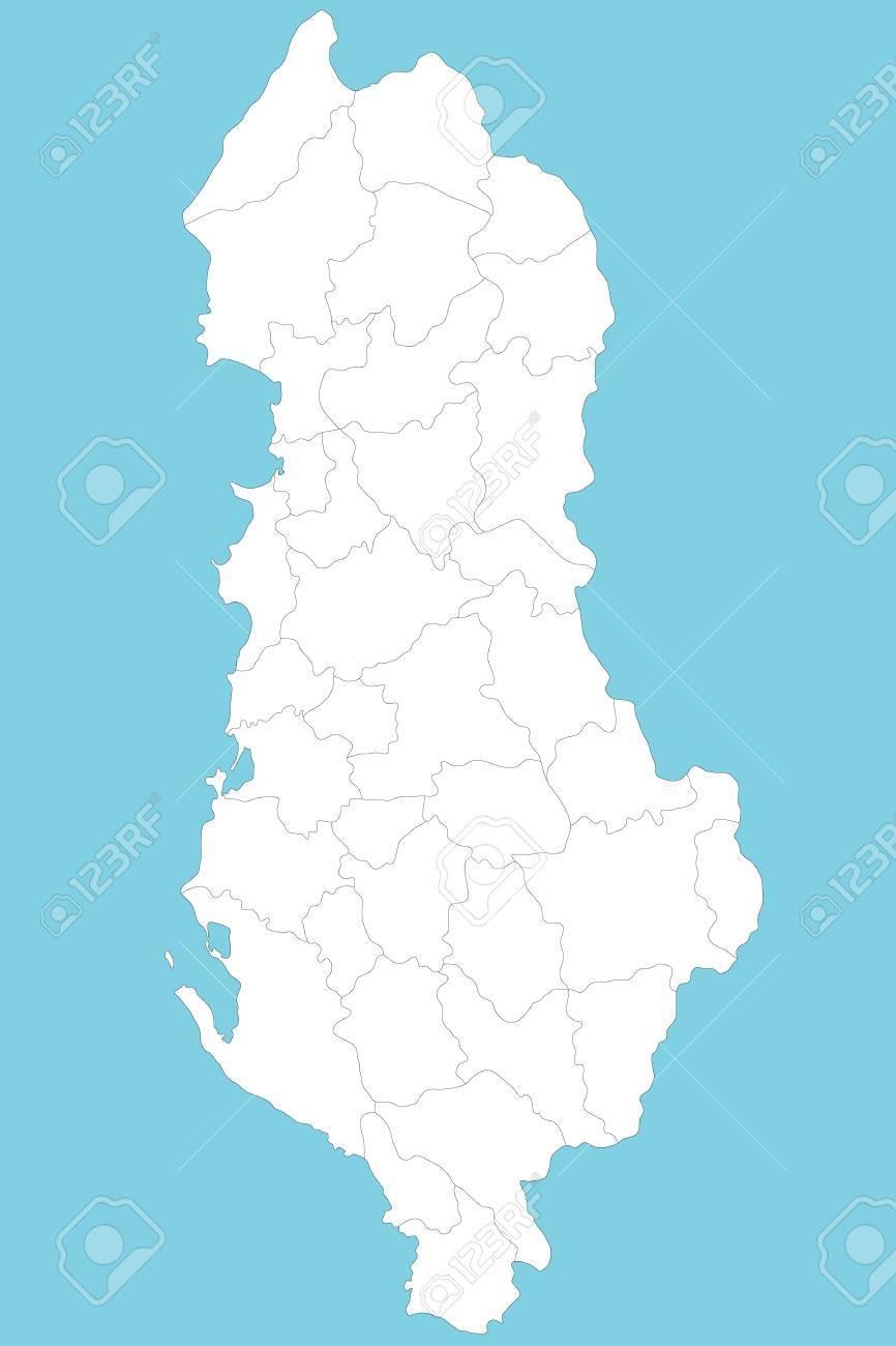 Karte Albanien.Stock Photo