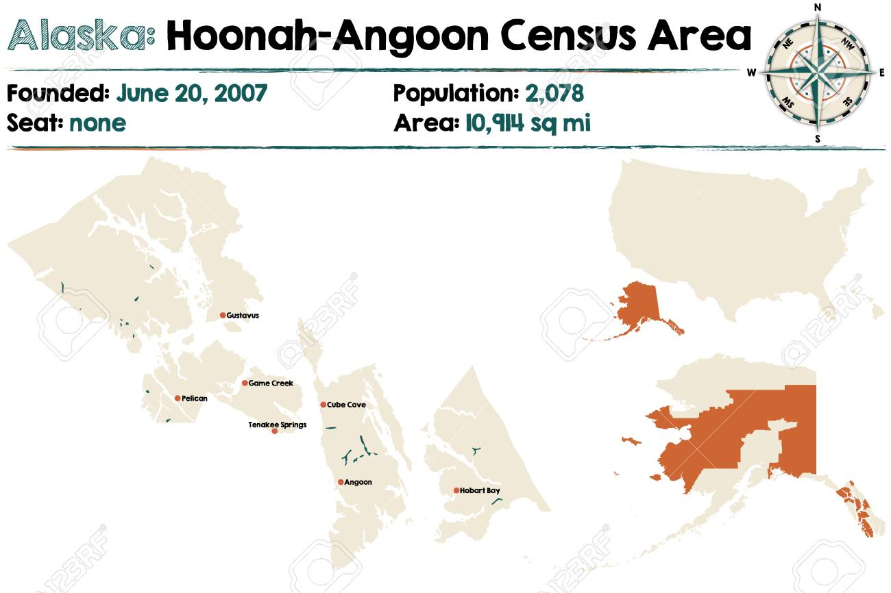 Large And Detailed Map Of Hoonah Angoon Census Area In Alaska