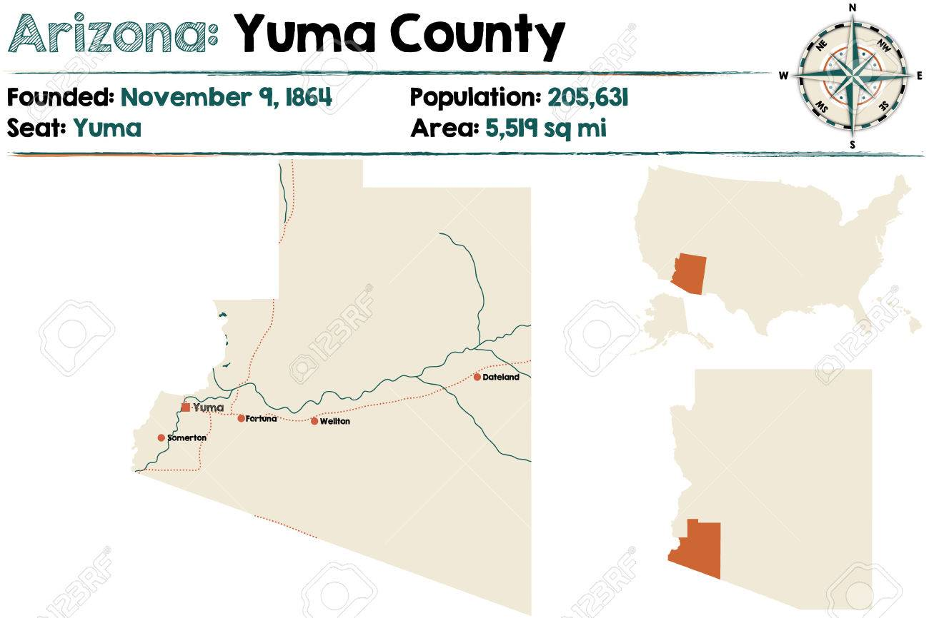 Map Of Yuma Arizona And Surrounding Area.Large And Detailed Map Of Yuma County In Arizona