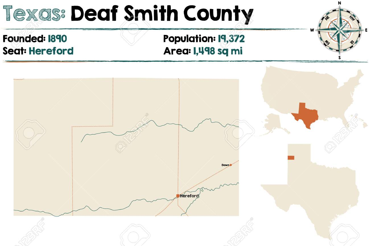Detailed map of Deaf Smith county in Texas, United States. on leflore county map site, tyler map site, white county map site,