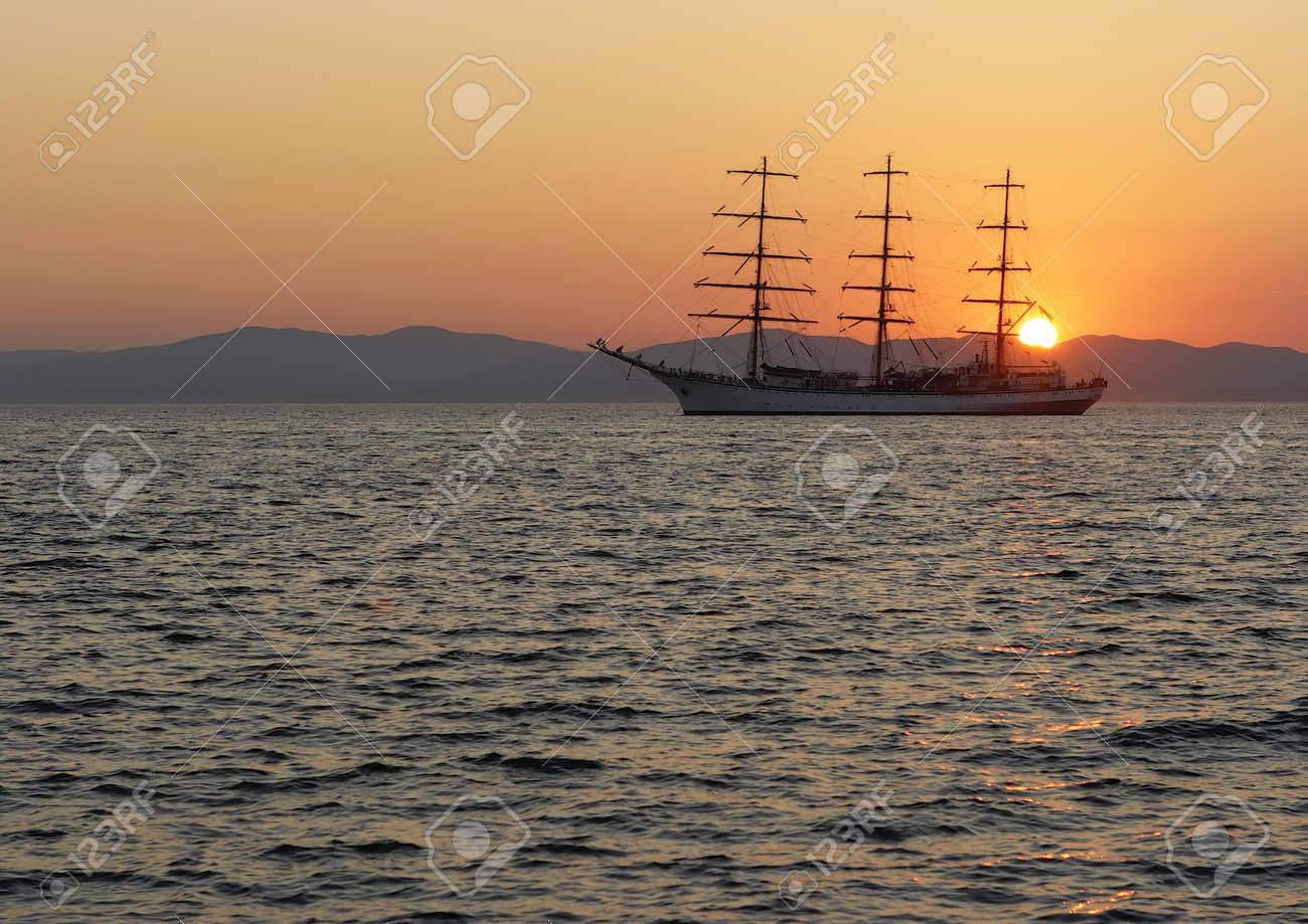 Sail on the sunset Stock Photo - 12627773