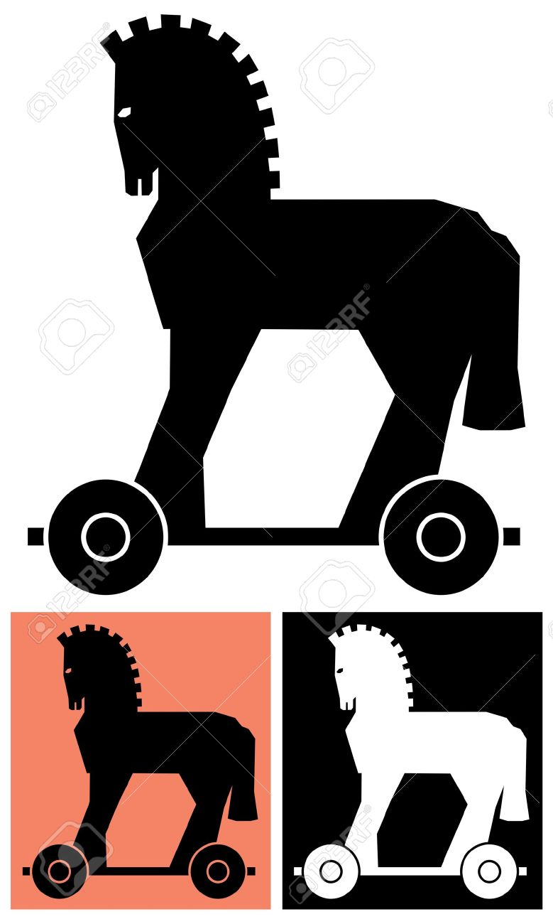 Stylized Picture Of The Trojan Horse No Transparency And Gradients Royalty Free Cliparts Vectors And Stock Illustration Image 5657520