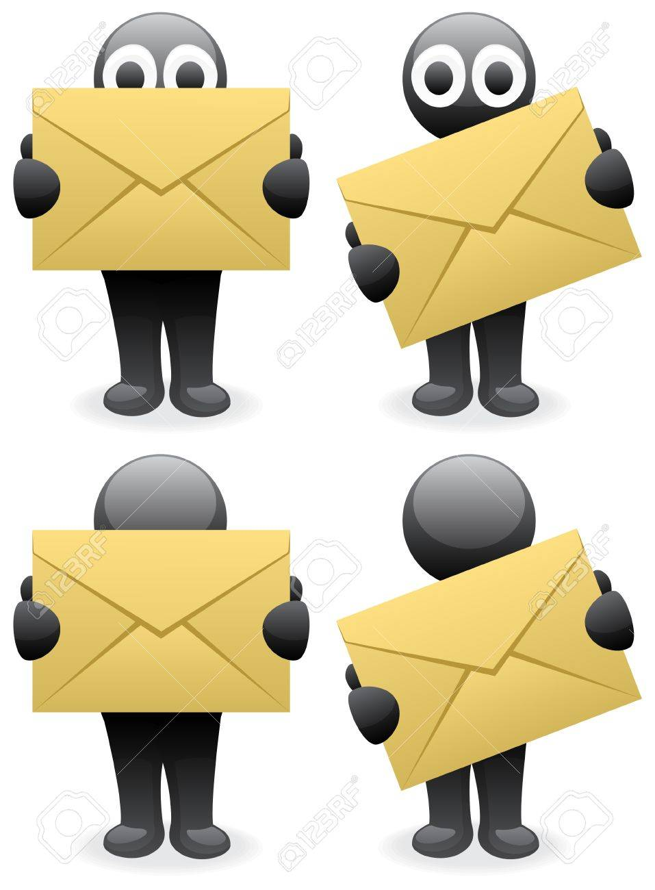 A character, bringing you a letter. Stock Vector - 7514065